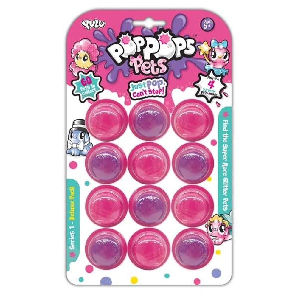 Slime  PopPops Pets 12 Cápsulas C/ 4 Pets Colecionáveis Multikids BR1003  - Mix Eletro