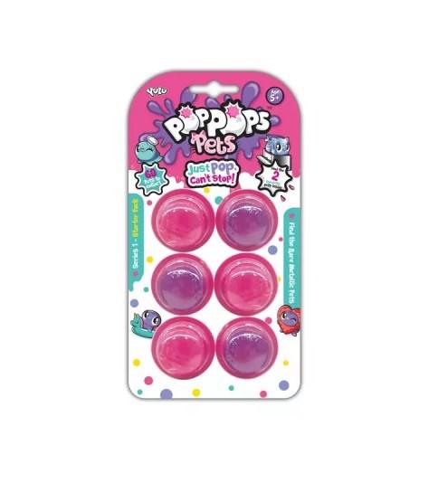 Slime  PopPops Pets 6 Cápsulas C/ 2 Pets Colecionáveis Multikids BR1002  - Mix Eletro