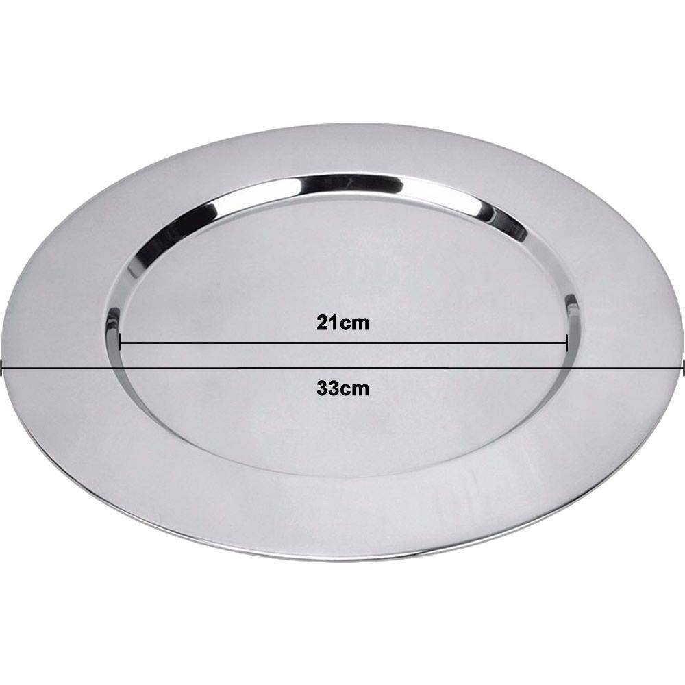 Souplast em aço inox redondo 33cm Up Home UD025 Conjunto 6pçs  - Mix Eletro