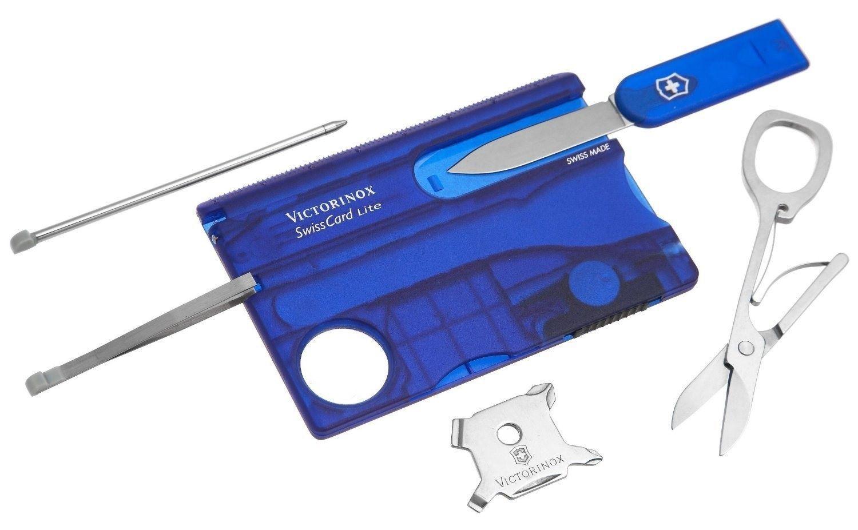 Swisscard Suiço 13 funções Victorinox Lite Azul Translúcido 0.7322.T2  - Mix Eletro