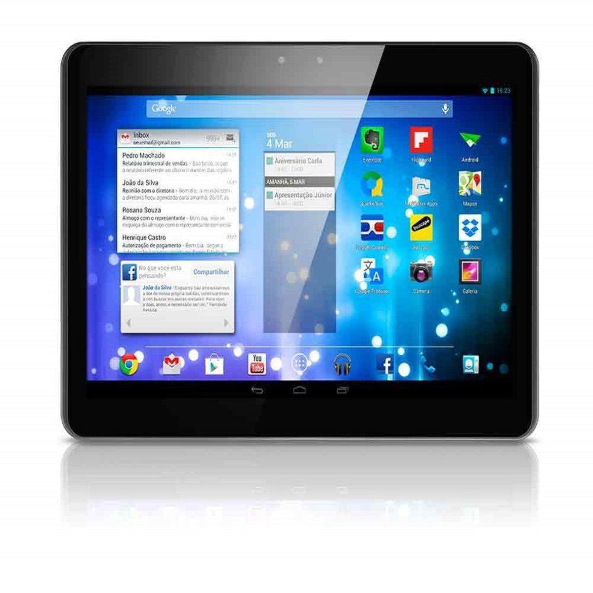 "Tablet MLX3 10""  Quad-core 1,3GHZ 12GB 1GB RAM Bluetooth HDMI Wi-fi  3G Dual Chip + Capa NB949 Multilaser  - Mix Eletro"