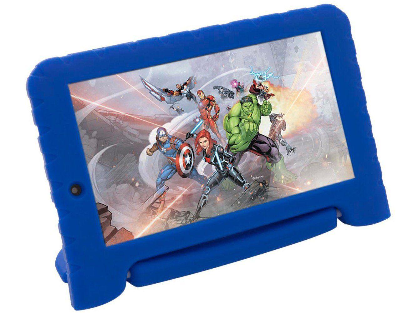 """Tablet Multilaser M7S Plus Capa Infantil Vingadores 8GB 7"""" Wi-Fi Android 7.0 Quad Core Câmera 2MP  - Mix Eletro"""
