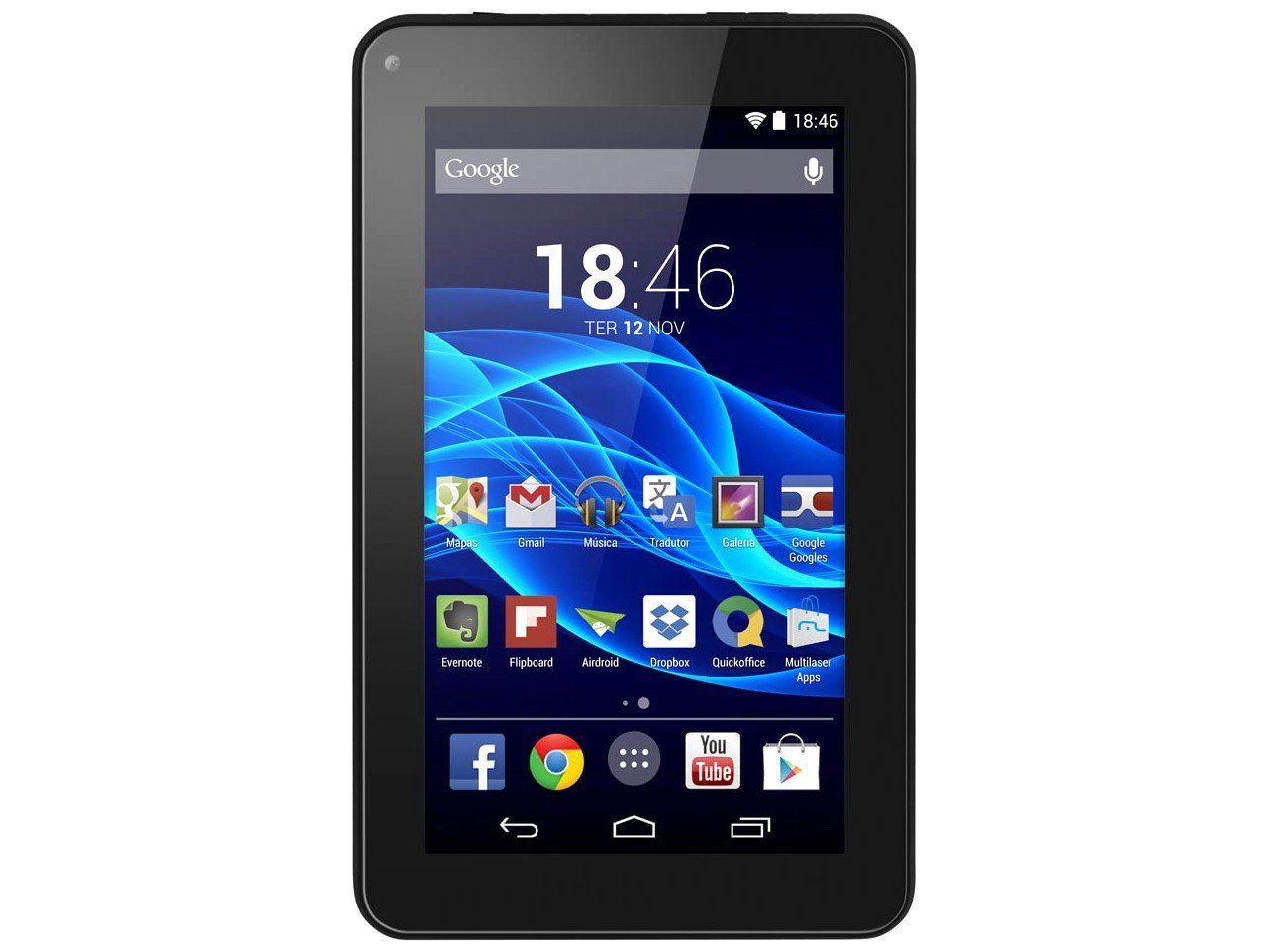 Tablet Multilaser M7S Quad Core Android 4.4 Dual Câmera Wi-Fi Tela 7 Pol. Memória 8GB + Power bank  - Mix Eletro