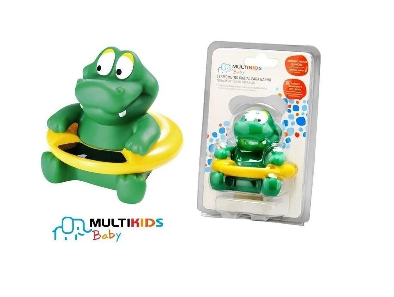 Termômetro Digital infantil Jacaré para Banheira Multikids Baby BB017  - Mix Eletro