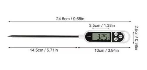 Termômetro Digital Espeto Para Uso Culinário -50º +300º