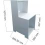 Balcão Balança Mesa Balança Pet Box Mdp