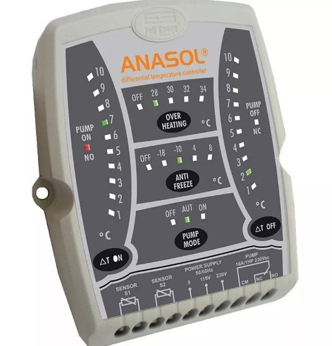 Controlador Diferencial De Temperatura New Anasol Full Gauge