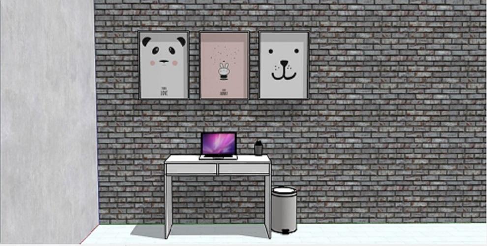 Mesa Para Home Office Escrivaninha Multiuso Com Gaveta Mdf