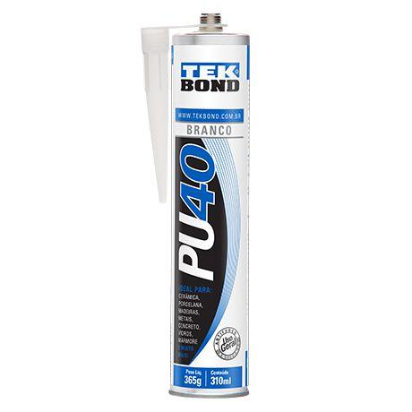 Adesivo Poliuretano Branco PU40 310ml - Tekbond