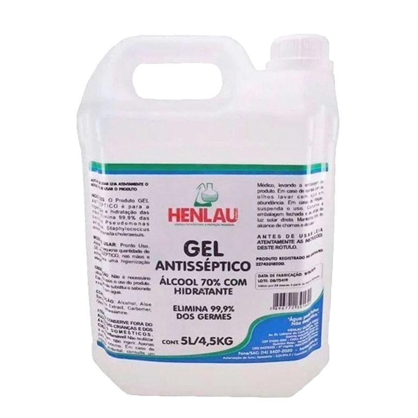 Alcool em Gel Antisséptico 70% Help Hand 5lt Sunlau