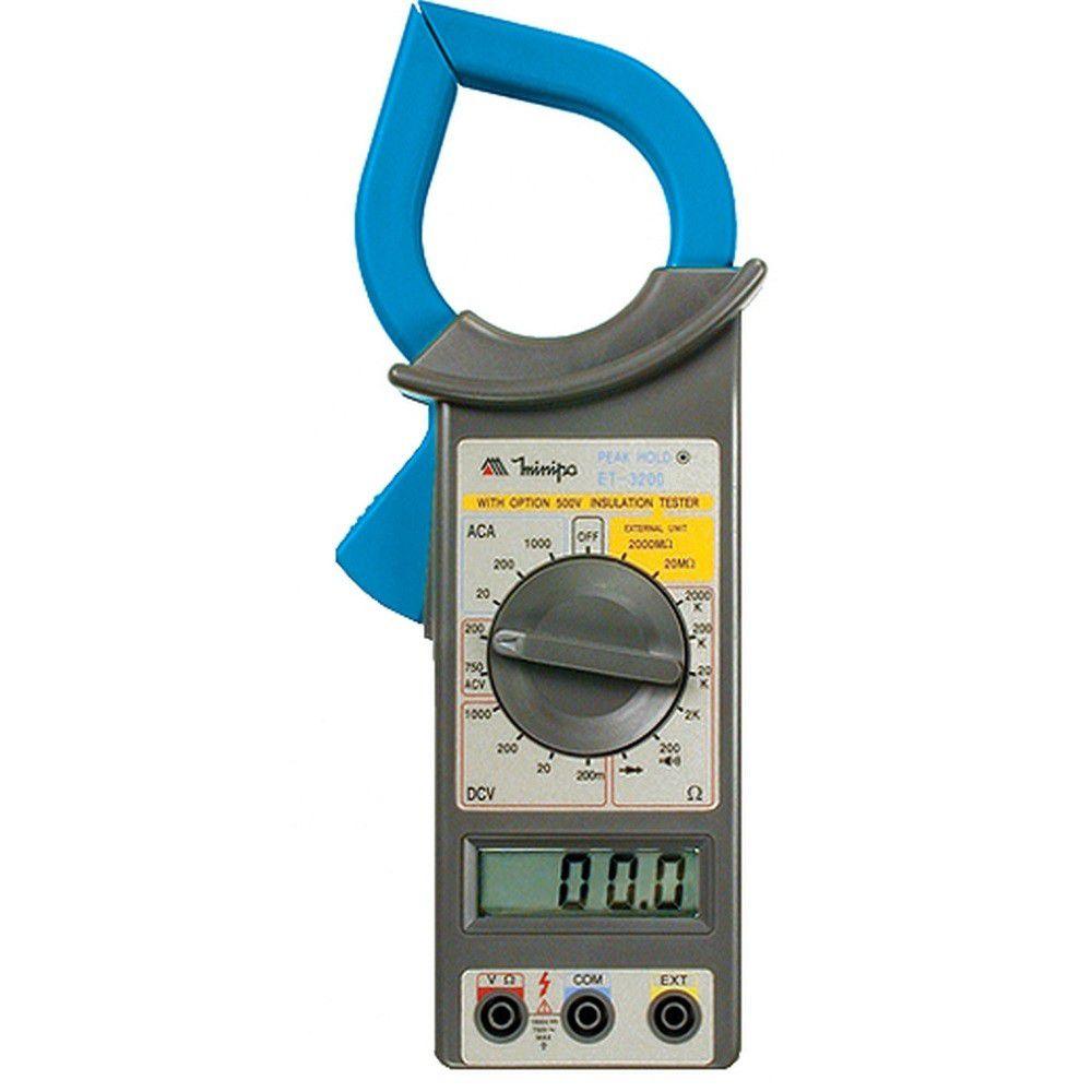 Alicate Amperimetro 1000A AC  ET 3200A MINIPA