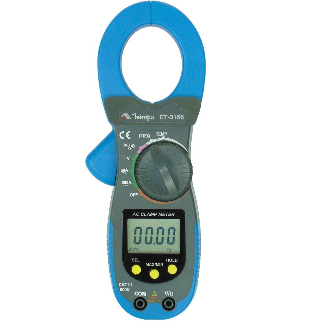 Alicate Amperímetro Digital de ET 3166 - MINIPA