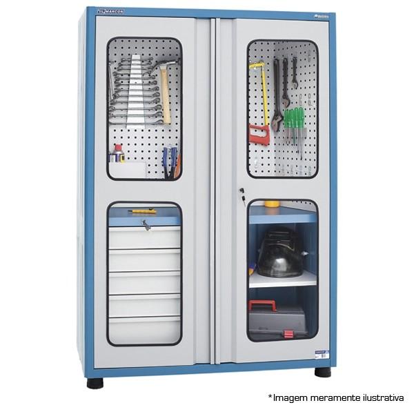 Armário Porta de Vidro C/ 1Band. 5Gav. 1200X500X1800 AM-12 - Marcon