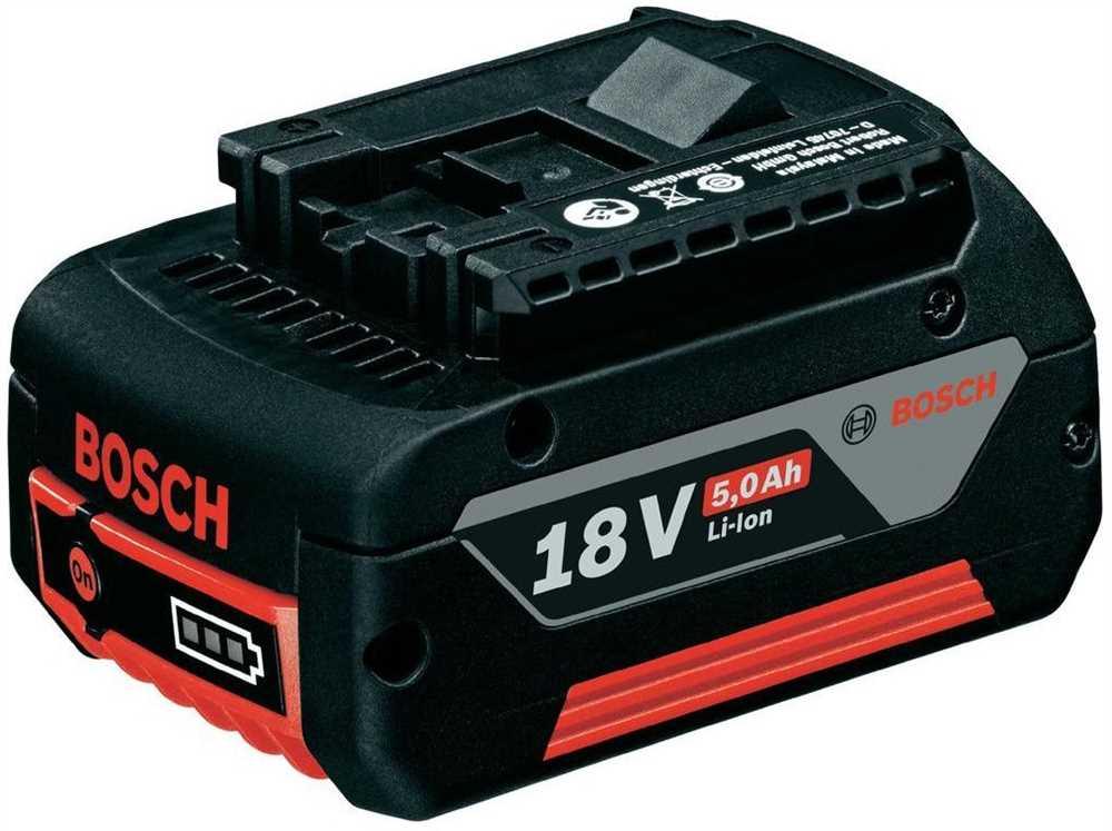 Bateria 18v Li-Ion 5,0Ah 1600A002U5 - Bosch