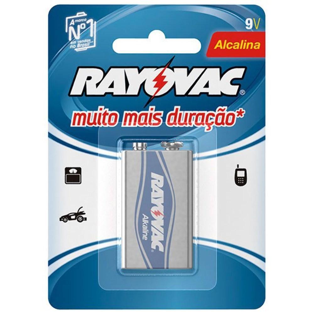 Bateria 9V Alcalina 6LR61 20984 - Rayovac
