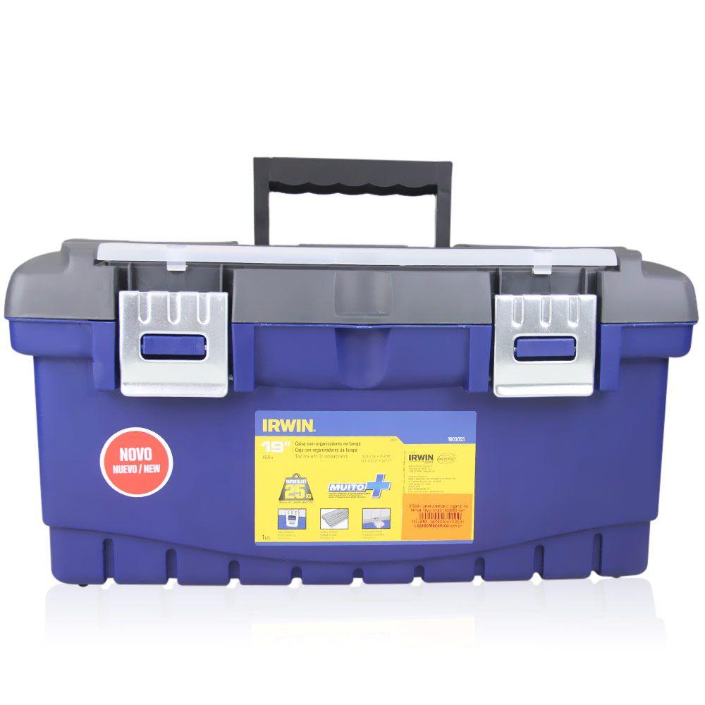 Caixa Plástica c/ Organizador na Tampa 19'' IB190 - IRWIN