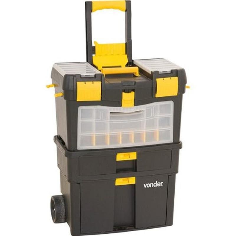Caixa Plástica Multiuso Com Rodas Crv 0100 - Vonder