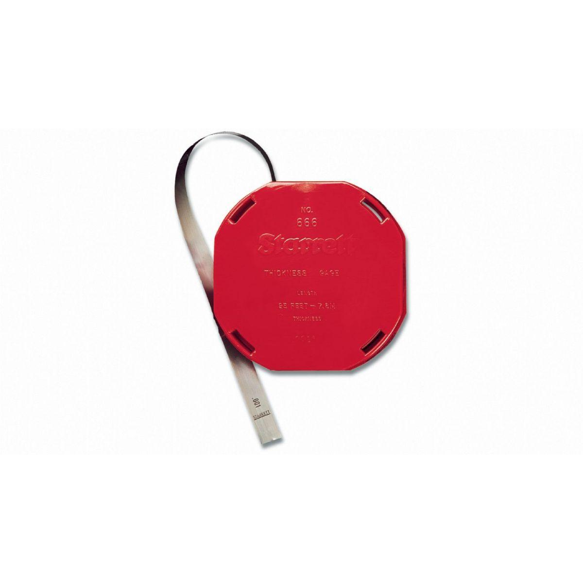Calibrador De Folga Rolo 7,6m 13 X 0,10mm 666M-10 - STARRETT