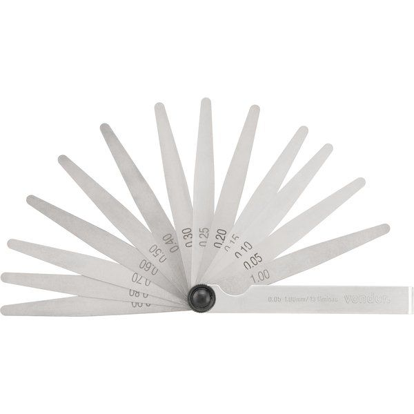 Cálibre de Folga 0,05 mm a 1 mm 13 Lâminas CF013 - VONDER