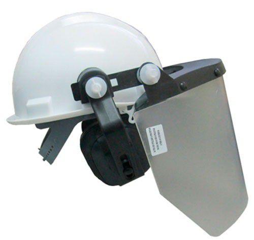 Capacete C/ Prot. Facial e Abafador Ruído 958 CA - LEDAN