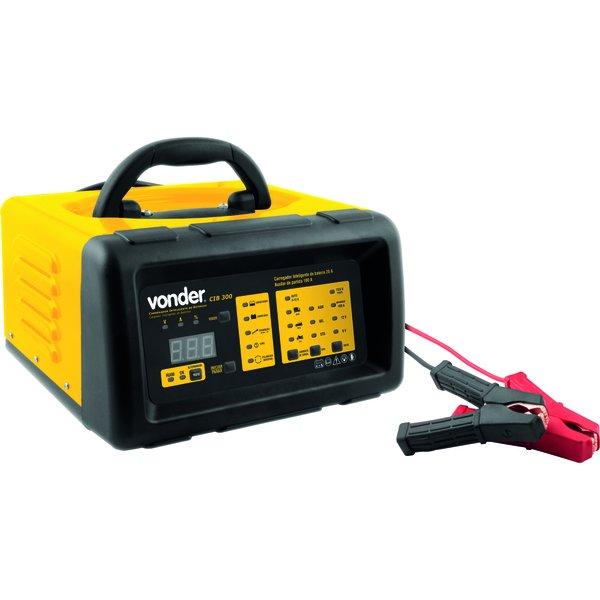 Carregador de Bateria 12V C/Aux e Voltímetro CIB300 220V - Vonder