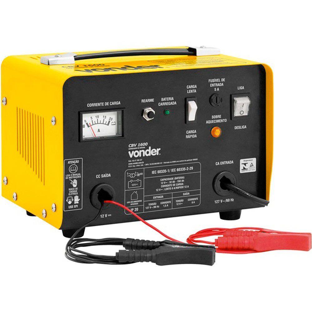 Carregador De Bateria 12V CBV 1600 127 - VONDER