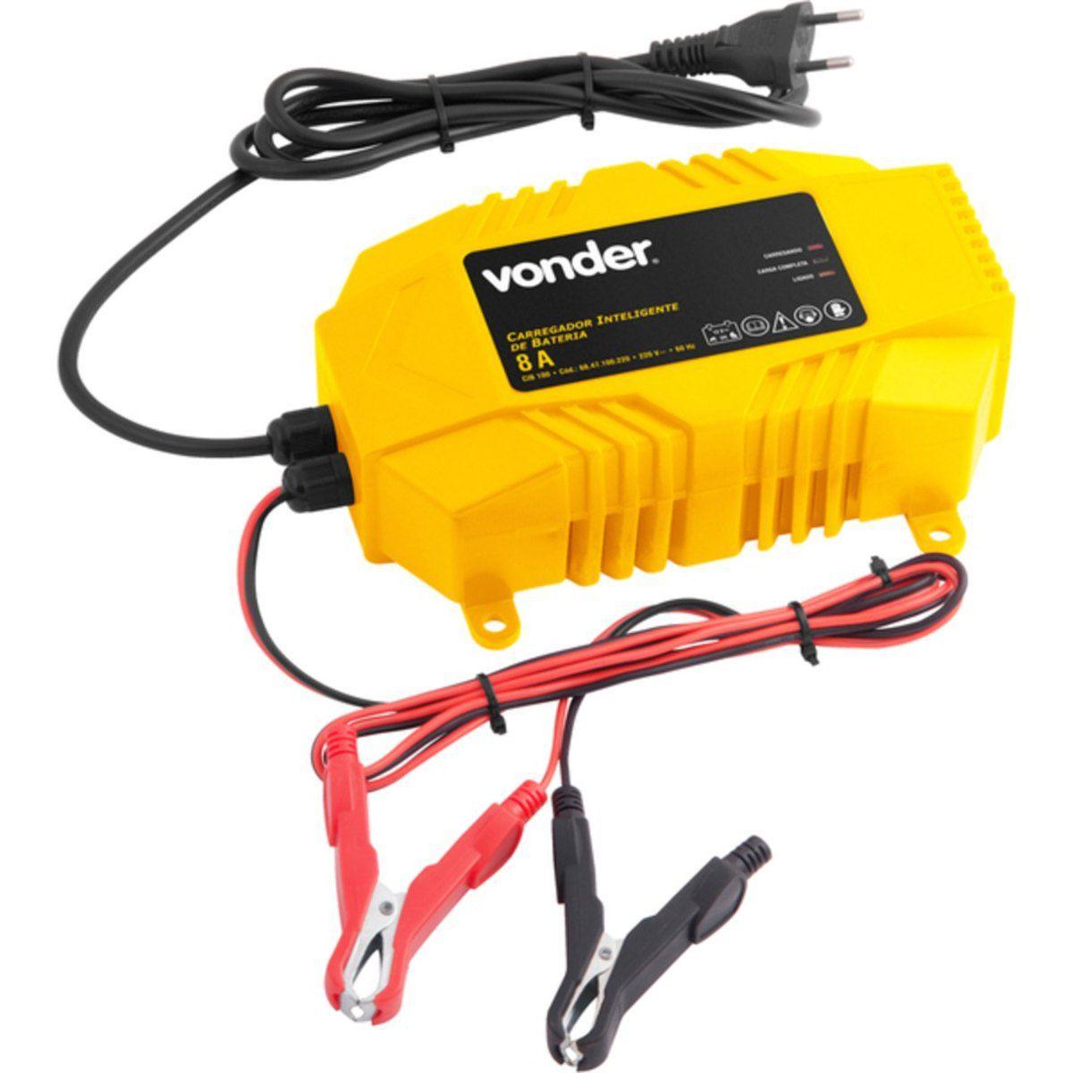 Carregador de Bateria 12V CIB070 220V – Vonder