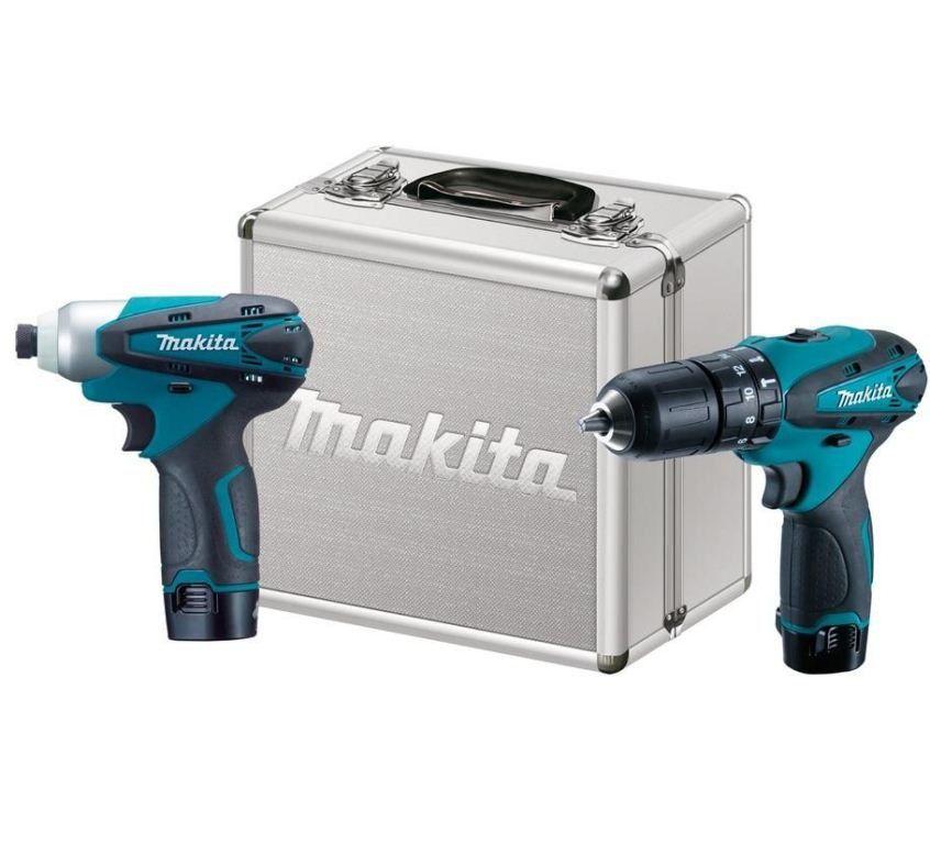 Combo Furadeira e Parafusadeira de Impacto à Bateria DK1493 c/ Maleta - MAKITA