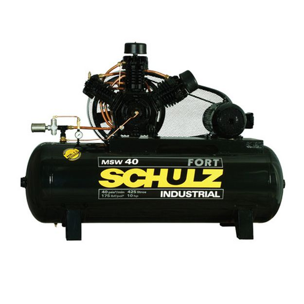 Compressor 40/425lts 175Lbs MSWV Fort (10hp) Trifásico - Schulz