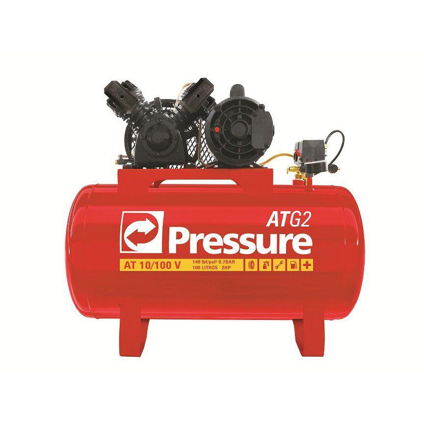 Compressor de Ar 10/100 L 140 Lbs. ATG 2 110/220V - PRESSURE