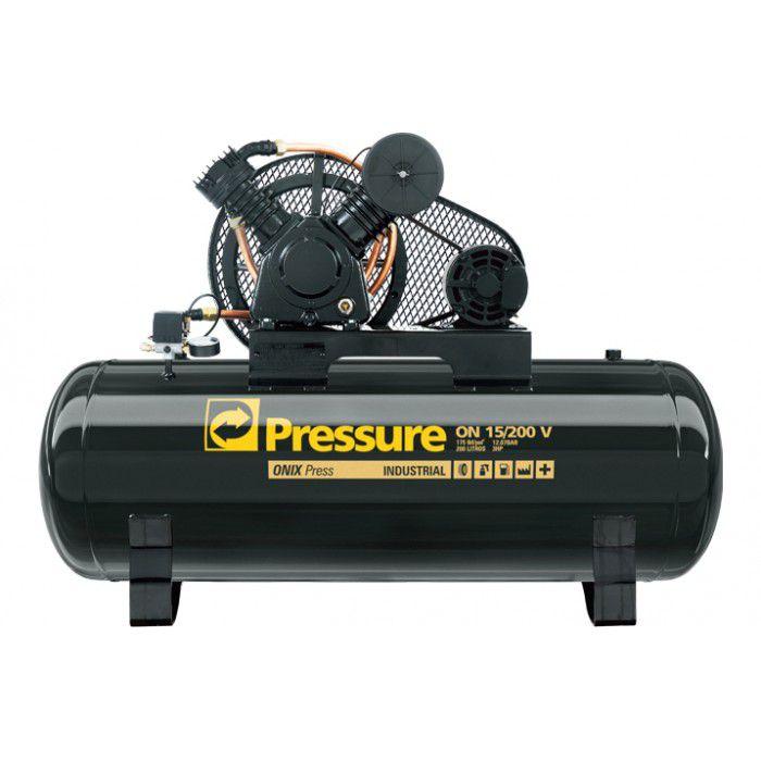 Compressor de Ar 15 Pés 200L Mono Ônix 15/200 - Pressure