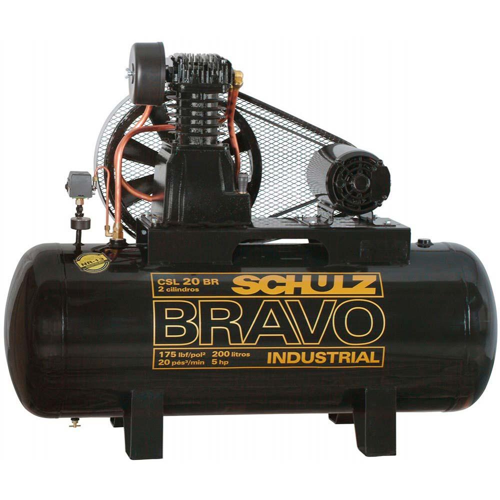 Compressor De Ar Bravo 200L 5 HP Trifásico CSL 20/200 - Schulz