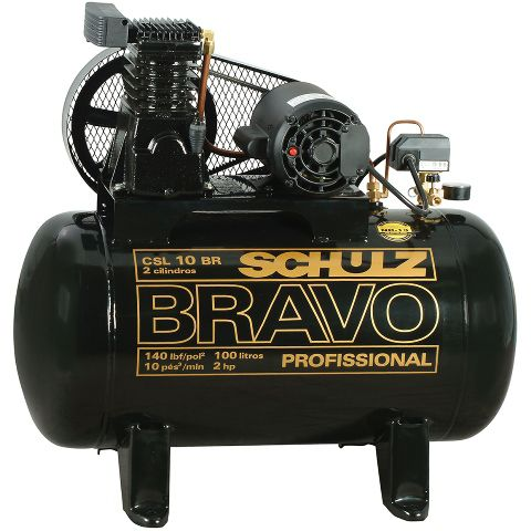 Compressor De Ar CSL10/100L-140 Libras  Monofásico - Schulz