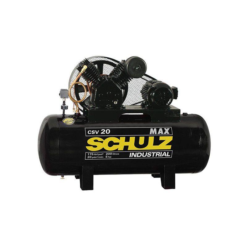 Compressor de Ar Industrial 200L CSV 20 MAX Trifásico - Schulz