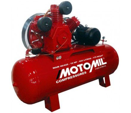 Compressor de Ar Industrial 40/425L Trifásico IP56 - Motomil