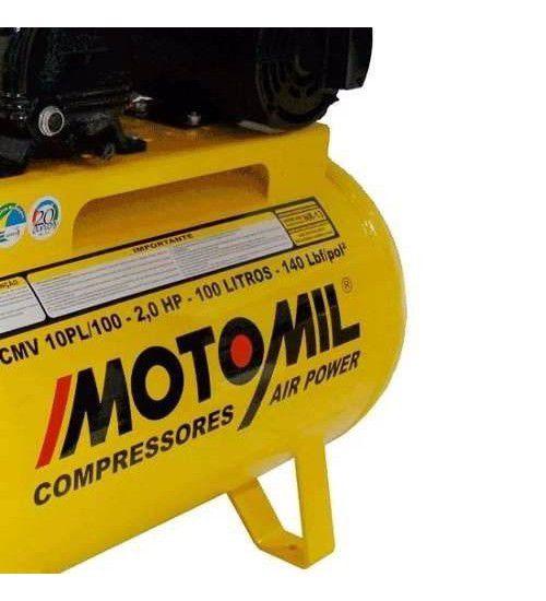 Compressor de Ar Pistão 10 Pés 100L Mono CMV 10/100 - Motomil
