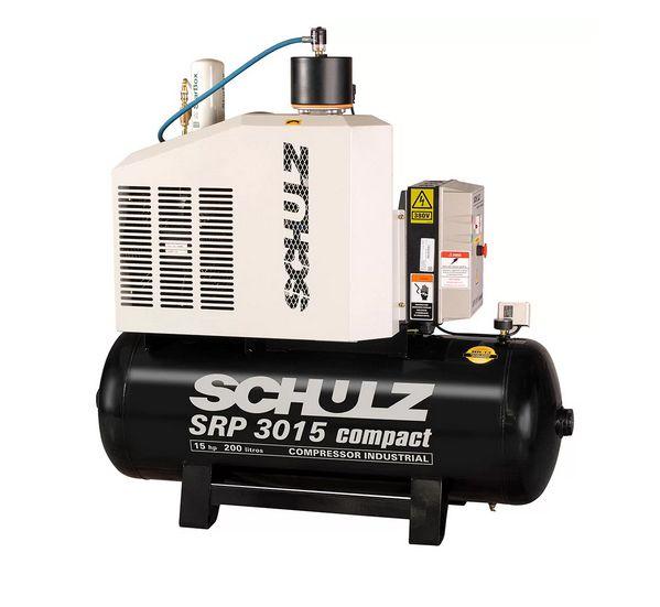 Compressor de Ar Rotativo de Parafuso SRP 3015 Compact III 15HP 11Bar 200lt 380V - Schulz