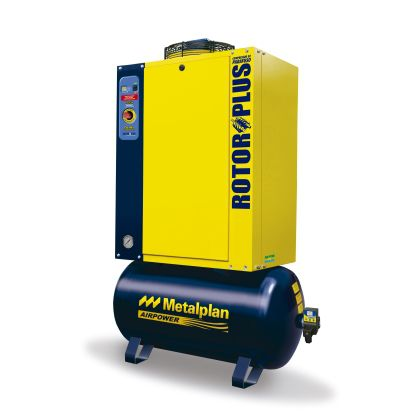 Compressor Parafuso 15HP 9 Bar 152L Trif 220V Rotor Plus - Metalplan
