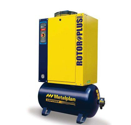 Compressor Parafuso 25HP 9 Bar 152L 220V Rotor Plus - Metalplan