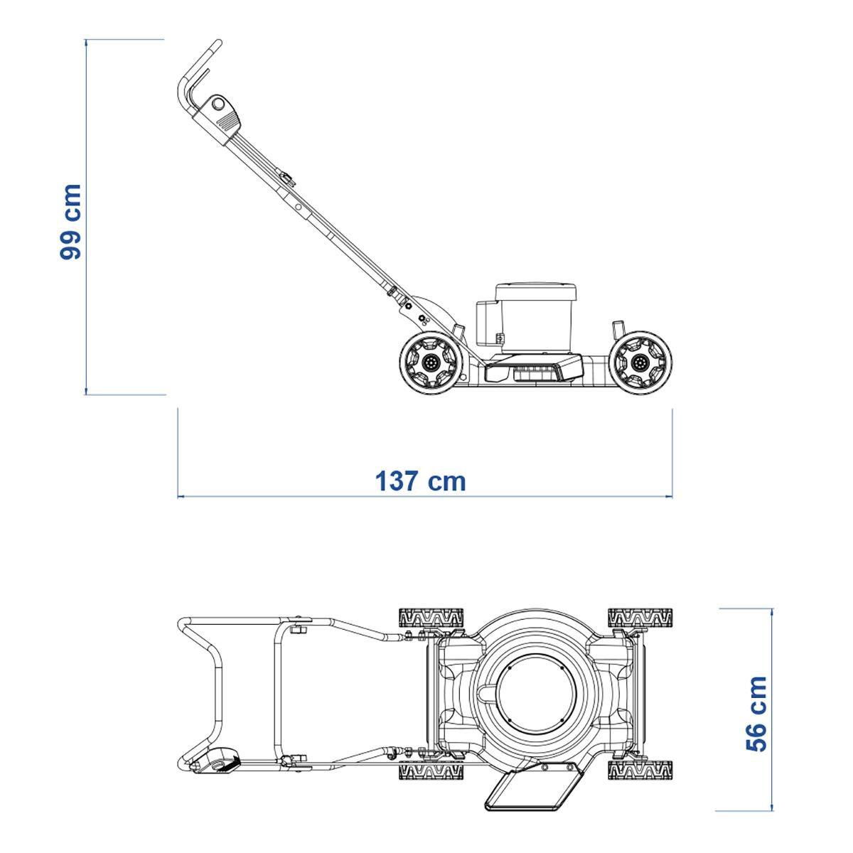 Cortador de Grama Elétrico 2500W CE 45 M 220V - TRAMONTINA