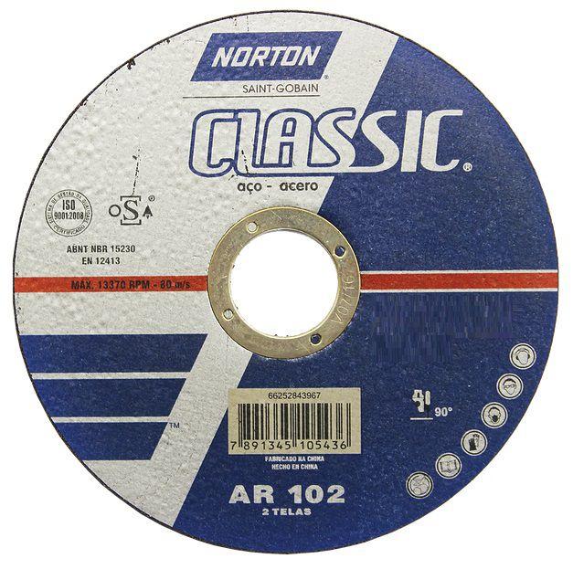 Disco de Corte Classic 115x1,0x22mm - Norton