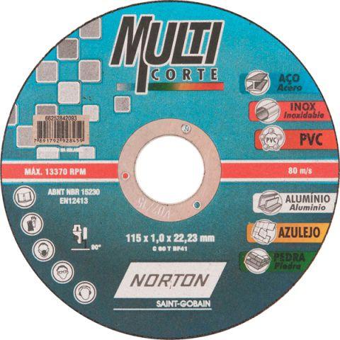 Disco de Corte Multicorte 115x1,0x22,23mm - Norton