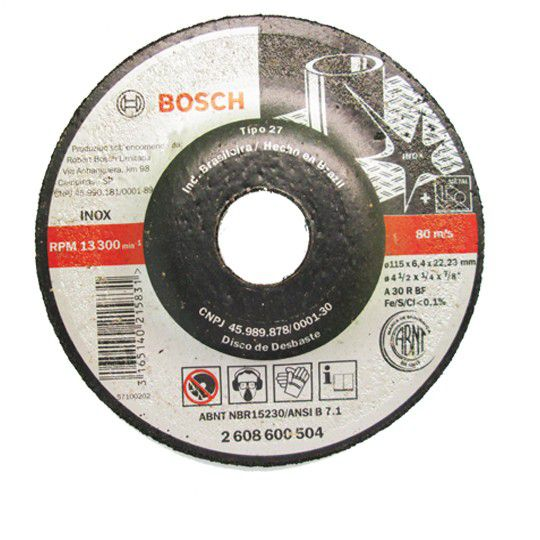 Disco de Desbaste Para Inox 115,0x6,4x22mm - Bosch