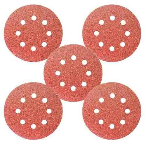 Disco de Lixa com Velcro 125mm GR 40 C/ Furo 5 Pcs - MTX