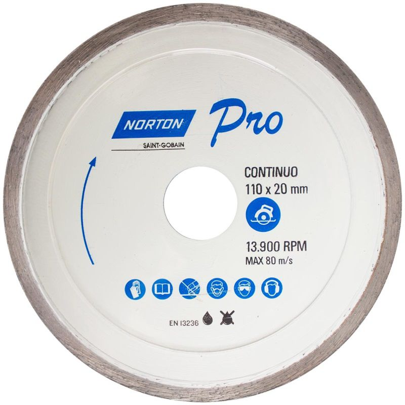 Disco Diamantado 110MM Liso (PISO/ARD/PORC) - Norton