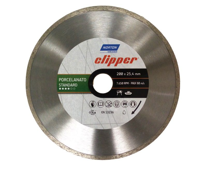 Disco Diamantado P/ Pisos e Porcelanatos 200mm - Norton