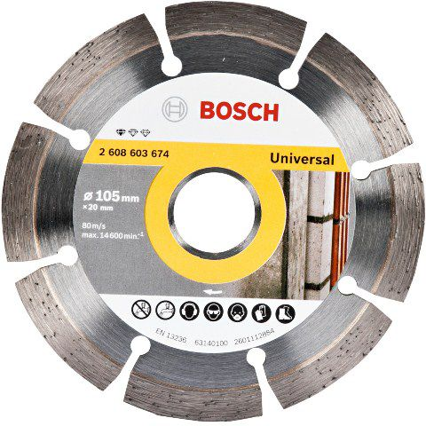 Disco Diamantado Segmentado Standard 105Mm - Bosch