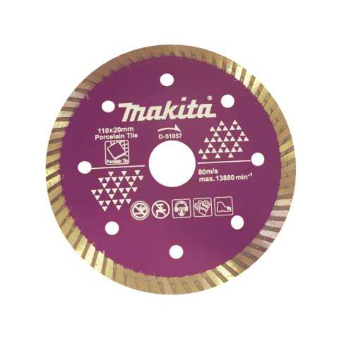 Disco Diamantado Turbo Porcelanato D-51057 - Makita