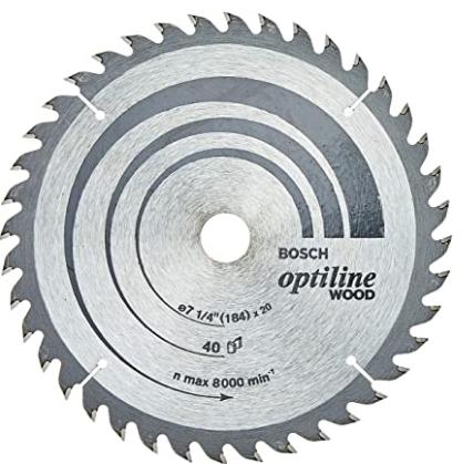 DISCO OPTILINE WOOD 184X20MM 40T 2 608 640 853 BOSCH