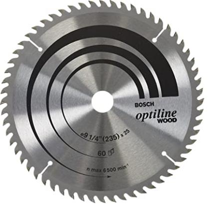 DISCO OPTLINE WOOD 235MM X 60D (F 20MM) P/MDF BOSCH